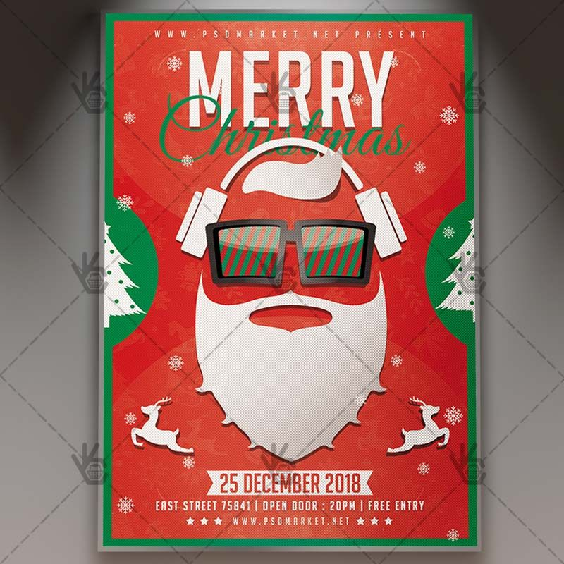Merry Christmas Party - Winter Flyer PSD Template Psd templates