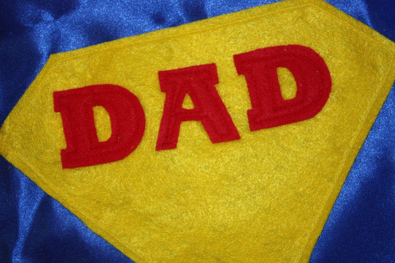 Super DAD Costume- 3 piece set- Cape, wristbands, mask. $35.00, via Etsy.