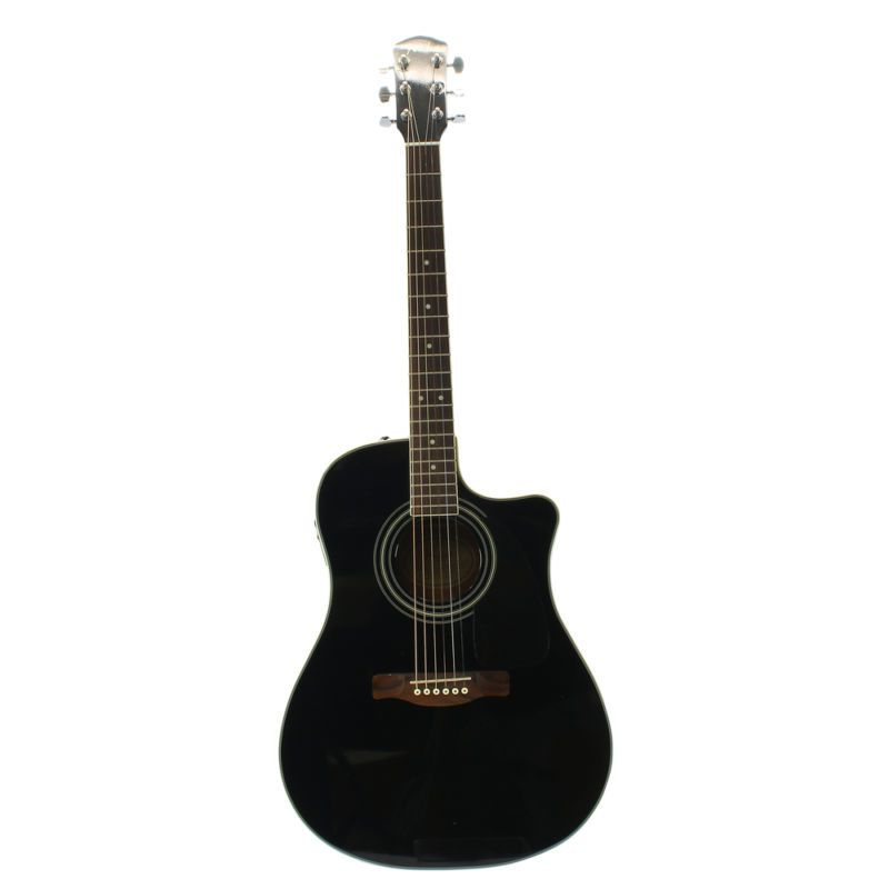 Fender Sonoran Sce Black With White Pick Guard Fishman Electronics Jam City Music Reverb Acoustic Electric Guitar Acoustic Electric Guitar