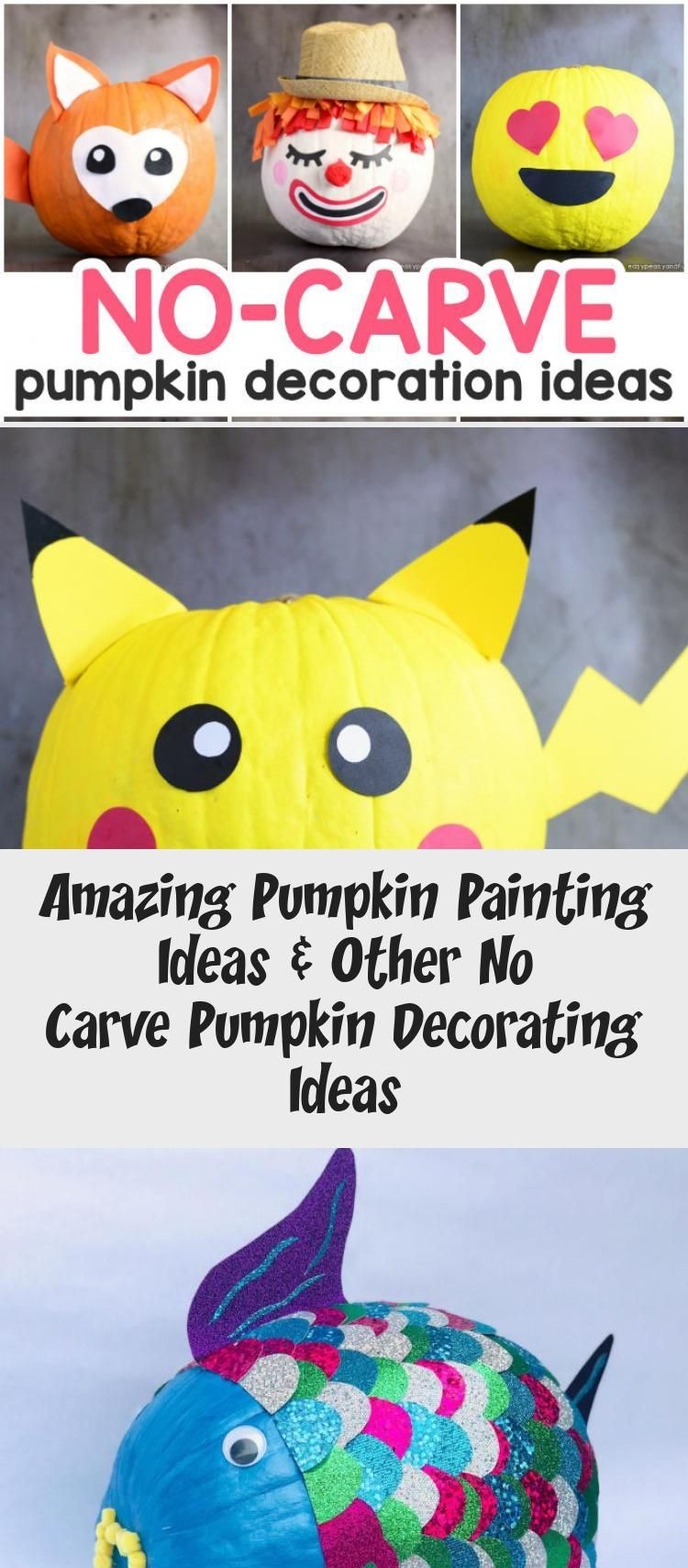 Amazing Pumpkin Painting Ideas & Other No Carve Pumpkin Decorating Ideas #paintingideasAcrylic #Smallpaintingideas #paintingideasForFurniture #paintingideasAcuarela #paintingideasAnimals #pumpkinpaintingideas