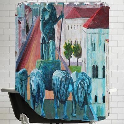 Brayden Studio Markus Bleichner Hix Munchen Siegestor Shower Curtain