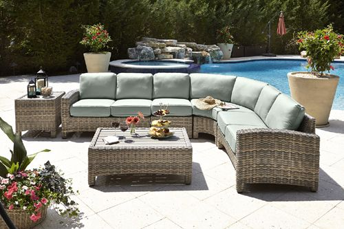Mambo Outdoor Sectional Patio Wicker Furniture | 9872 by Beachcraft ...