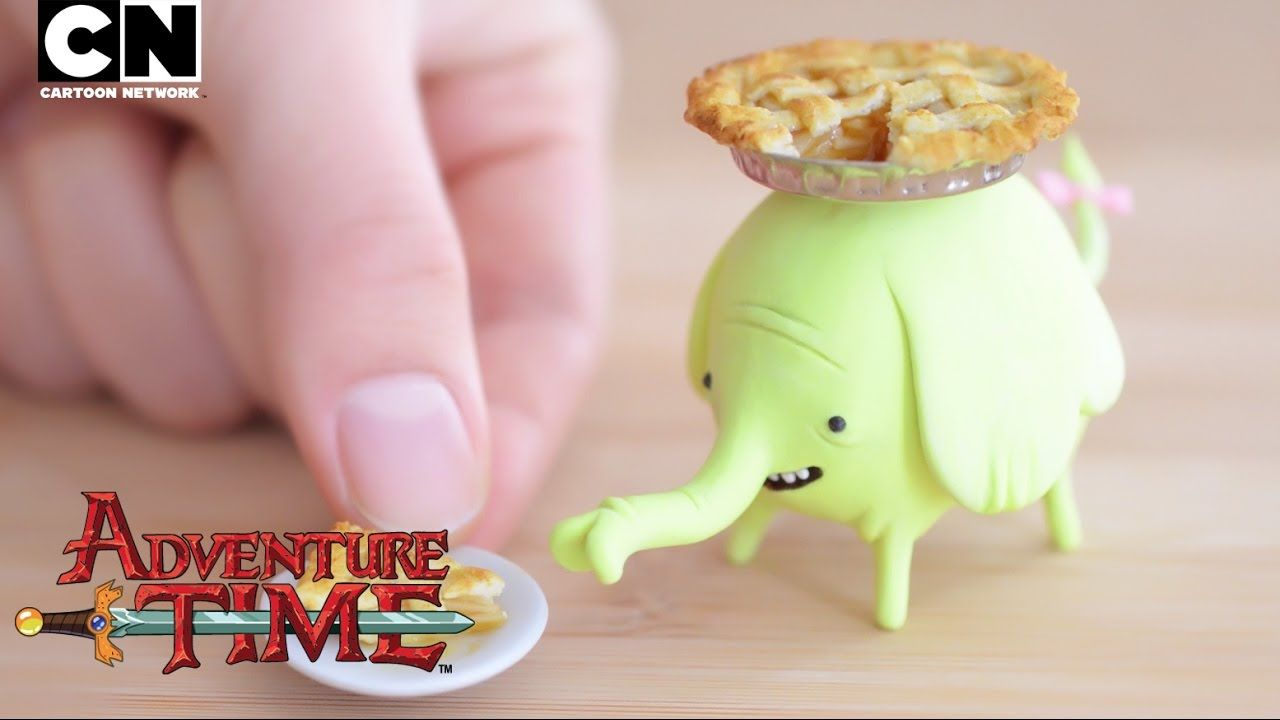 Adventure Time Make a Clay Tree Trunks and Apple Pie