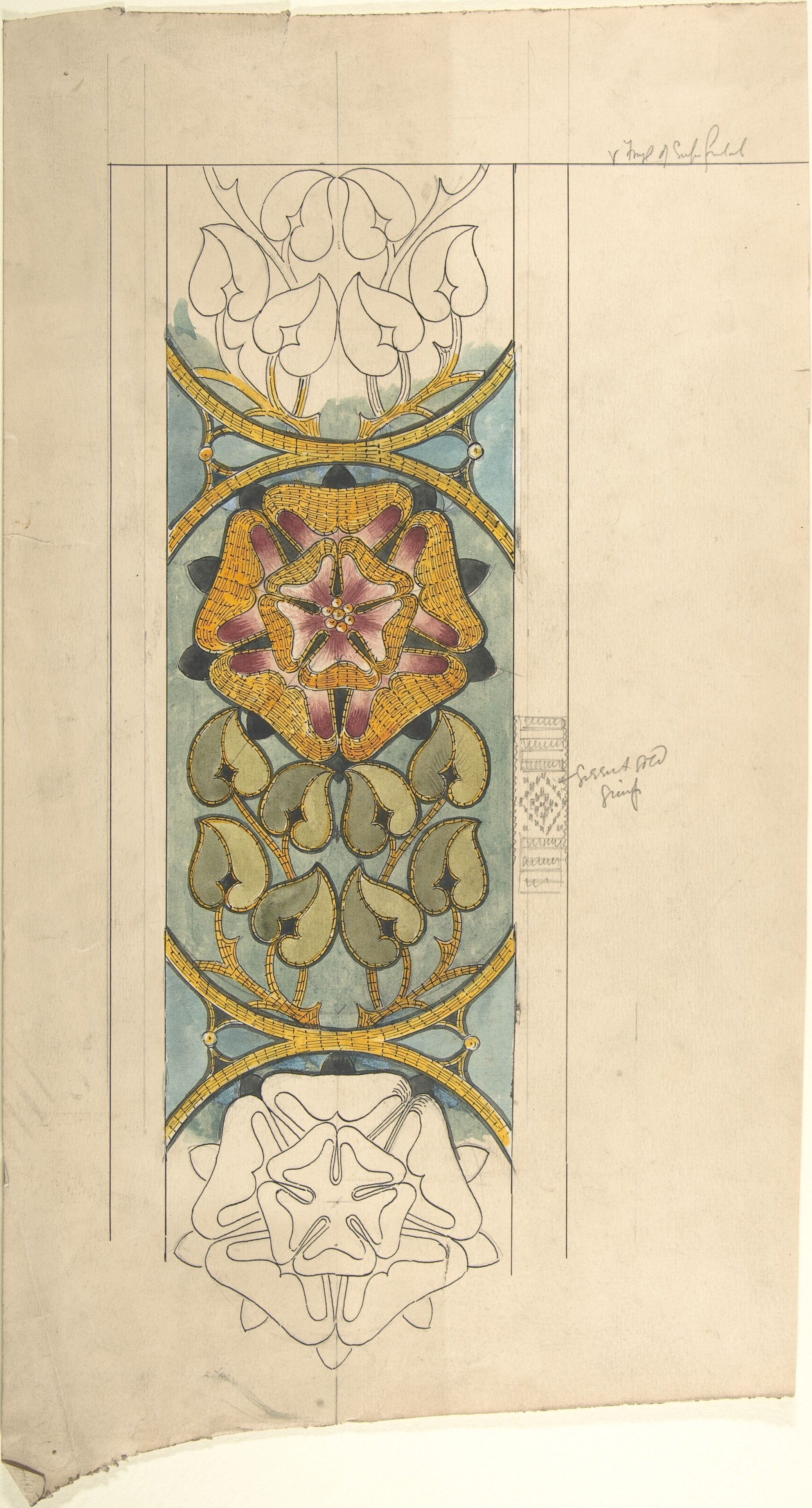 late 19th–early 20th century Design for Ecclesiastical Embroidery ...