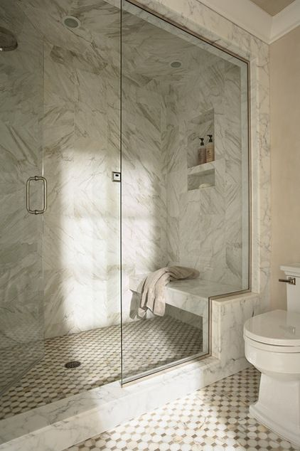 This Kind Of Bench In Shower With Stepped Glass Shower Bench Shabby Chic Bathroom Shower Niche
