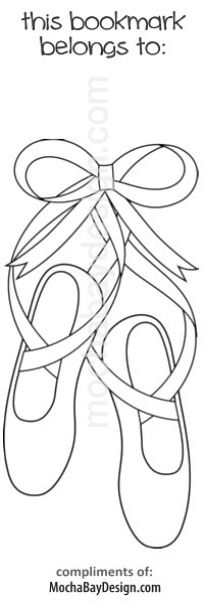 Bookmarks to colour in and laminate at the party for guests to then - copy coloring pages barbie ballerina
