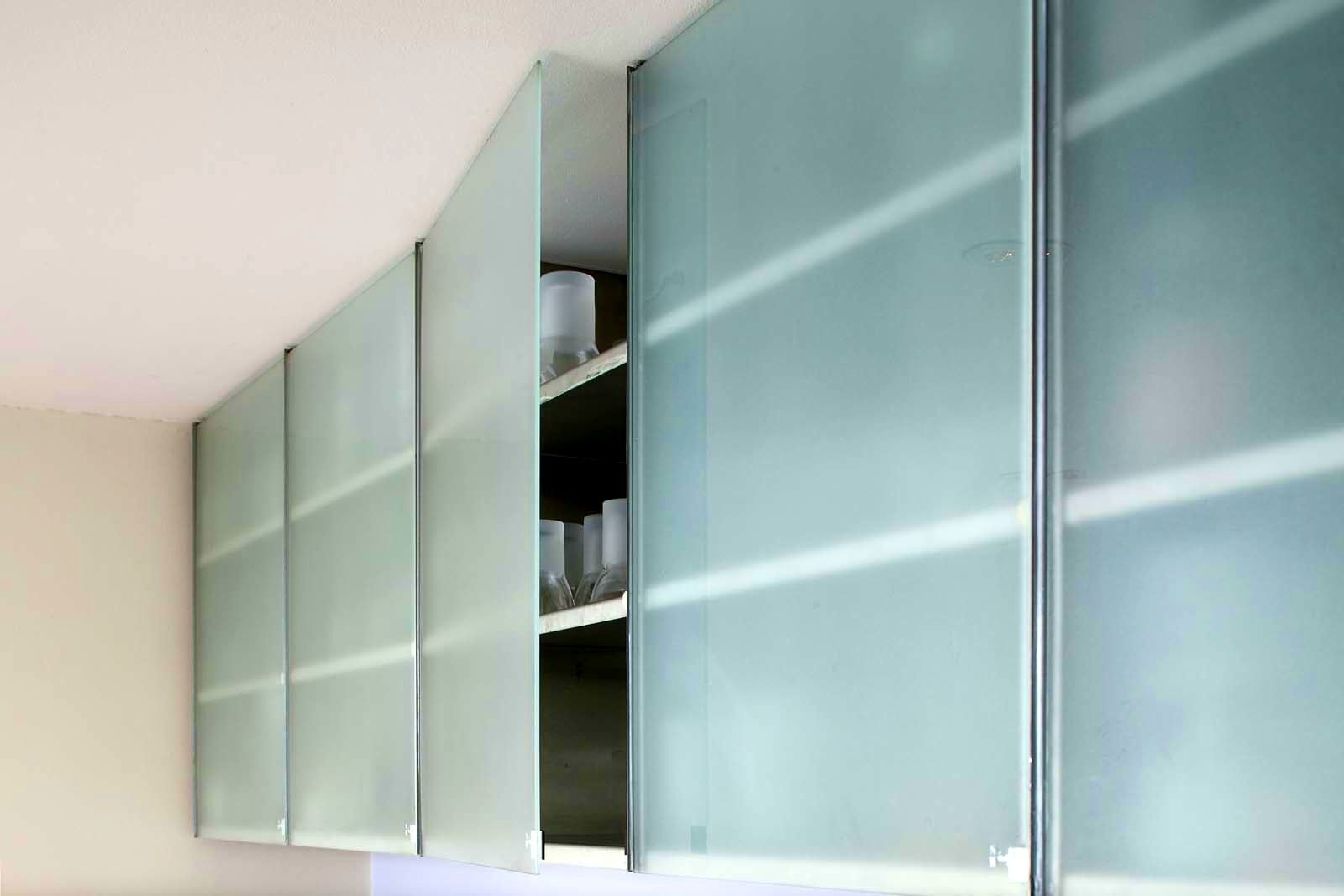 Frameless Frosted Glass Kitchen Cabinet Doors