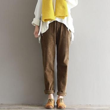 c62fa08b771 Autumn Winter Vintage Women Corduroy Pants Casual Loose Solid Color Trousers  Thickenrricdress