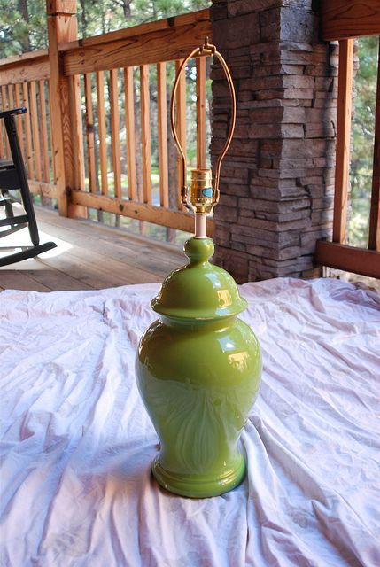 How To Repaint Wrought Iron Patio Furniture: How To Repaint Porcelain Lamps And Make Them Awesome. This