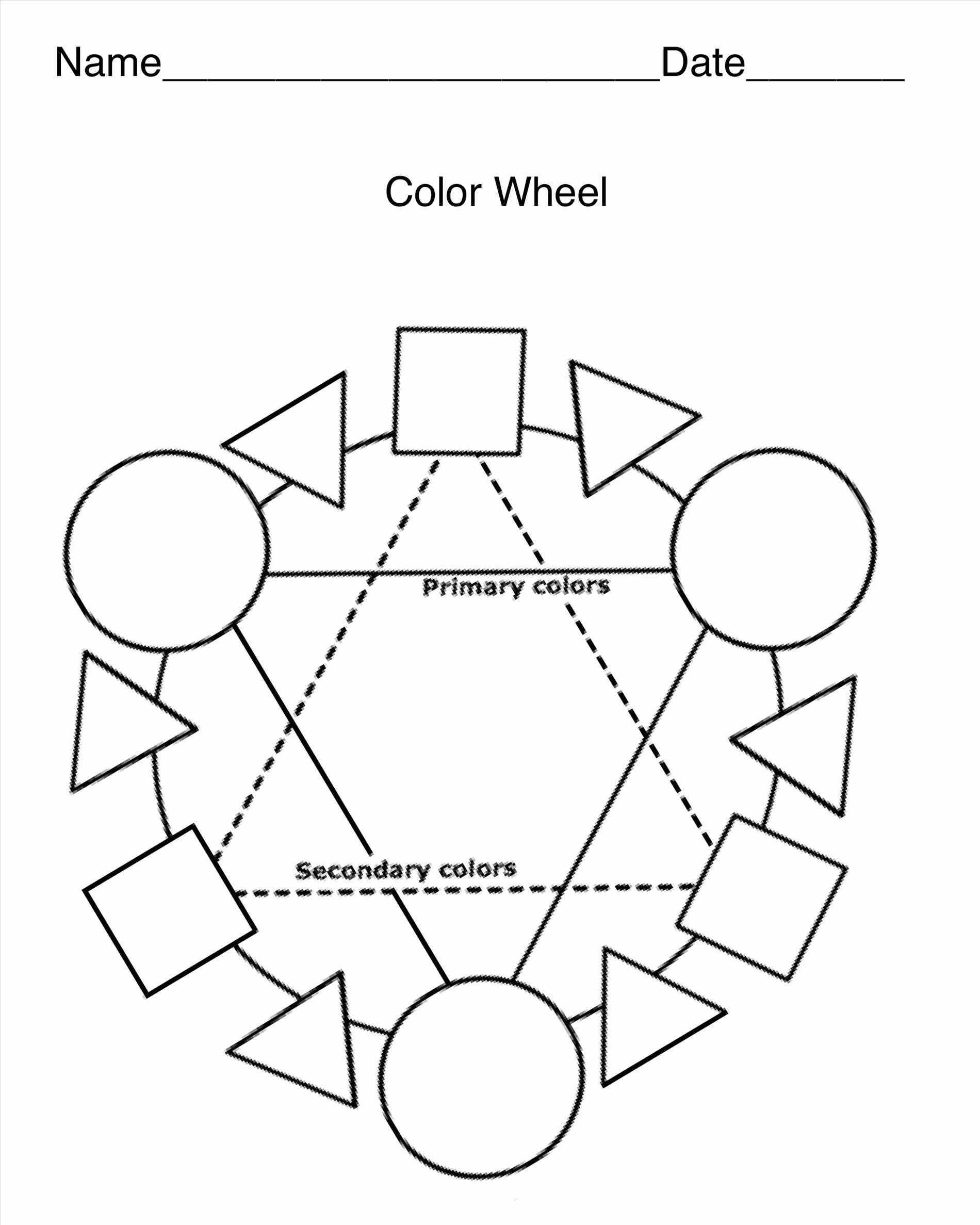 Fashion Blank Color Wheel Primary Secondary Math The