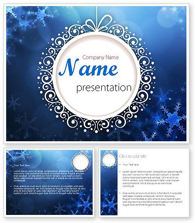 wwwpoweredtemplate/11558/0/indexhtml Blue Snowflakes - winter powerpoint template