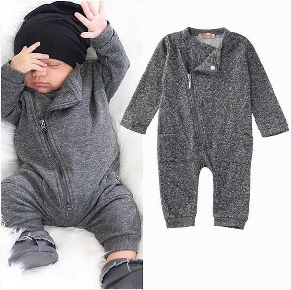 Photo of 2016 Fashion Baby Boy Girl Romper Clothes Autumn Winter Warm Bebes Playsuit Zipper Long Sleeve Jumpsuit One Pieces Outfits Suit