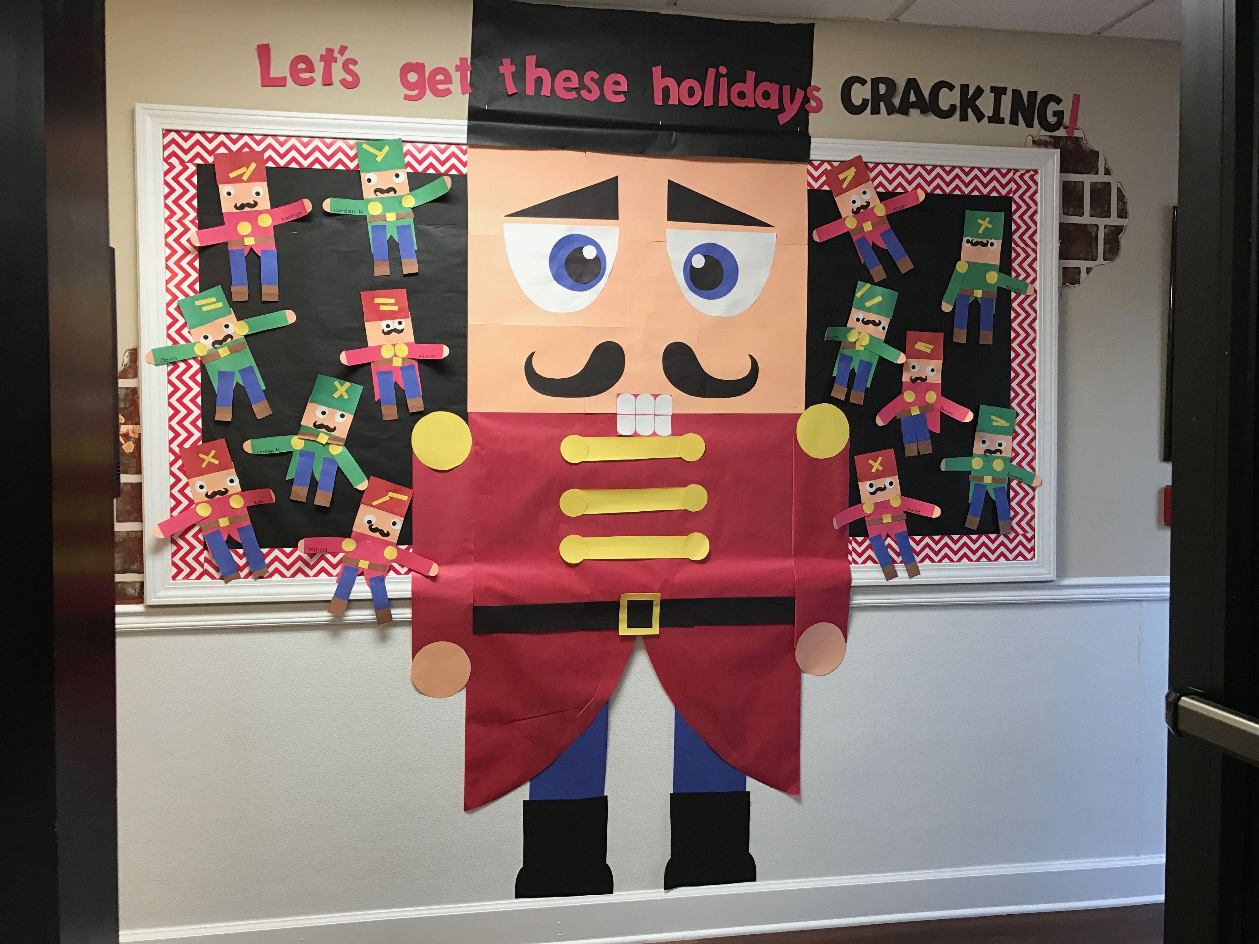 Winter Holiday Christmas Nutcracker Preschool Bulletin