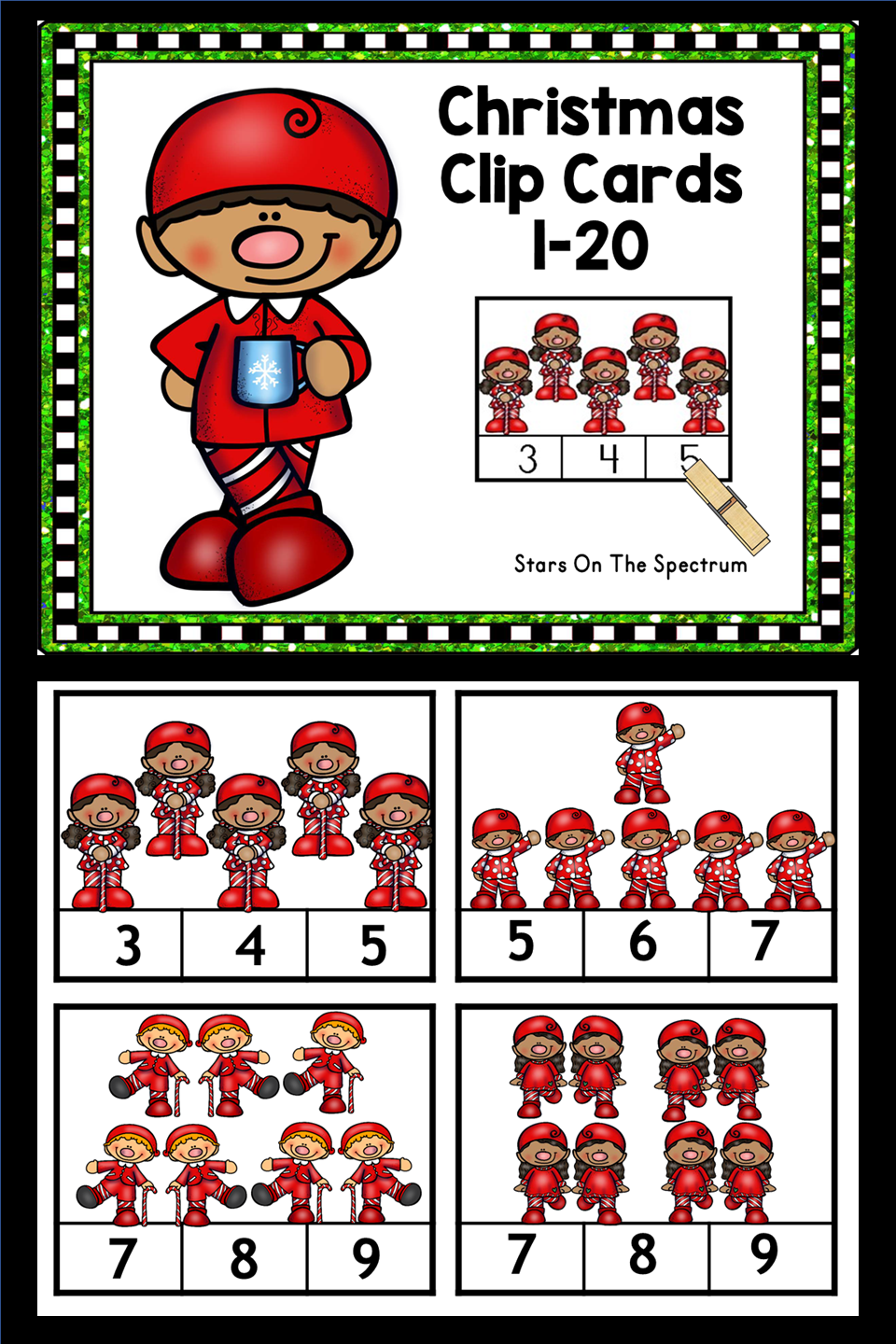 Elf Christmas Math Counting Clip Cards Are A Great Addition To Your Holiday Unit For Prescho Christmas Math Activities Christmas Math Christmas Math Worksheets [ 1440 x 960 Pixel ]