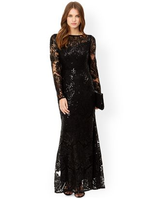 cff4f8f0 Connie Sequin Lace Maxi Dress | Black | Monsoon | Lovely stuff ...