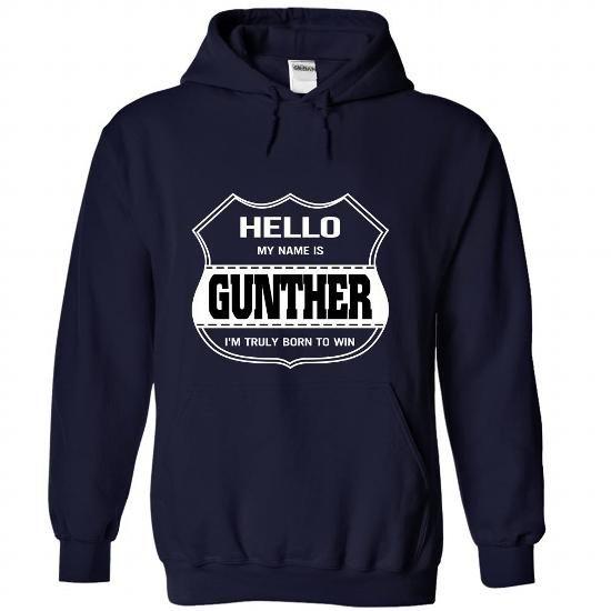 Hello my name is GUNTHER-nnatjqeepf - #logo tee #blue sweater. BEST BUY => https://www.sunfrog.com/LifeStyle/Hello-my-name-is-GUNTHER-nnatjqeepf-NavyBlue-22185968-Hoodie.html?68278
