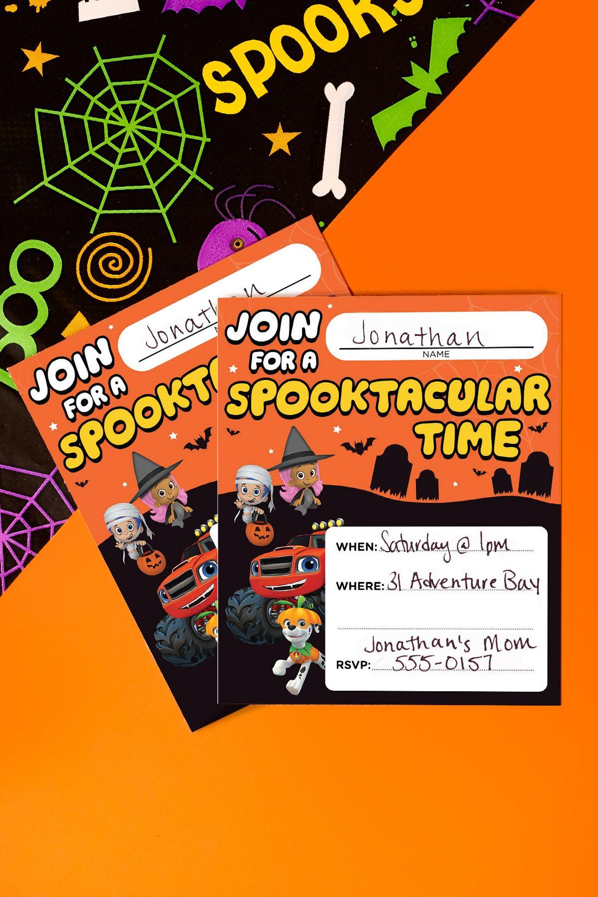 Nick Jr. Halloween Party Invitations | Pinterest