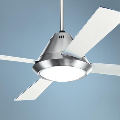 Living room casa surveyor brushed steel finish ceiling fan contemporary ceiling fans lamps plus
