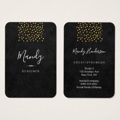Trendy simple gold dot lux business card gold dots trendy simple gold dot lux business card colourmoves
