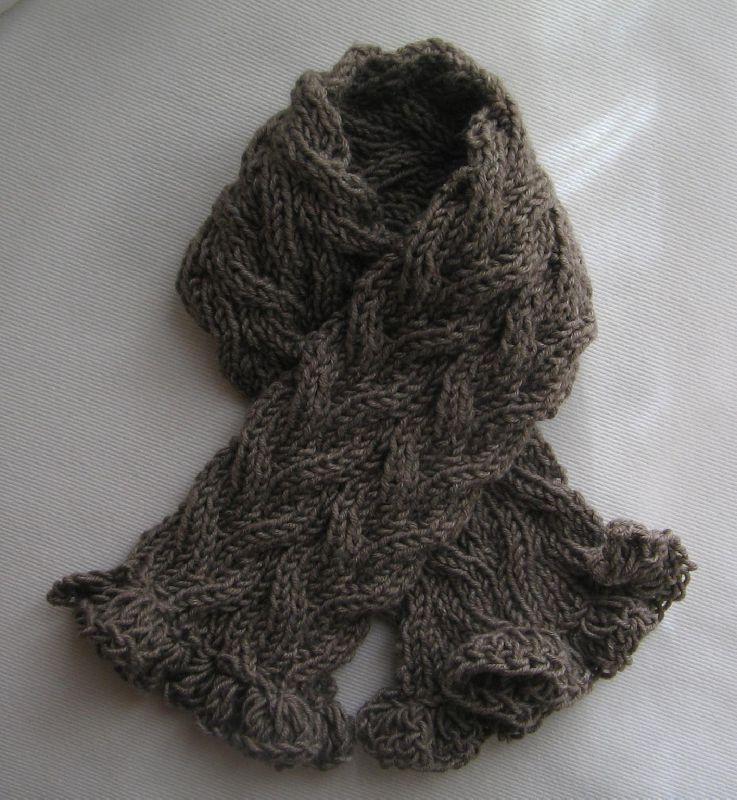tuto echarpe bebe en torsades - mes petites activités | tricot