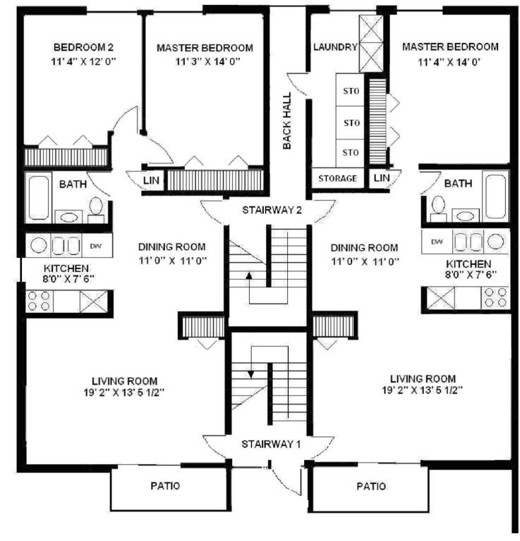 Apartment building floor plans personable design living 2 unit building plan