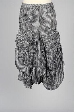 Dress To Kill - Scrunch Pocket Skirt - Grey Stripe