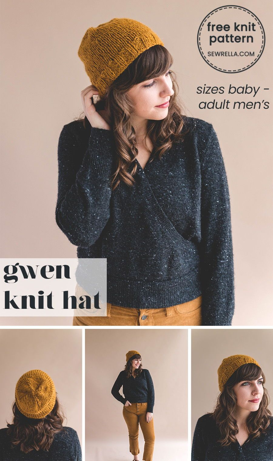 271c3052f1b This beginner friendly slouchy knit hat pattern is a quick and easy one!  Its unisex