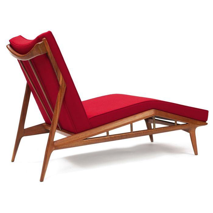 Anonymous Walnut Framed Chaise Longue By Erwin Lambeth 1950s Mid Century Modern Interiors Furniture Design Cottage Style Interiors