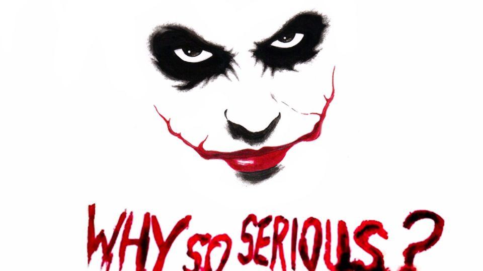Why So Serious Joker Tattoo Design Joker Art Joker Art Drawing