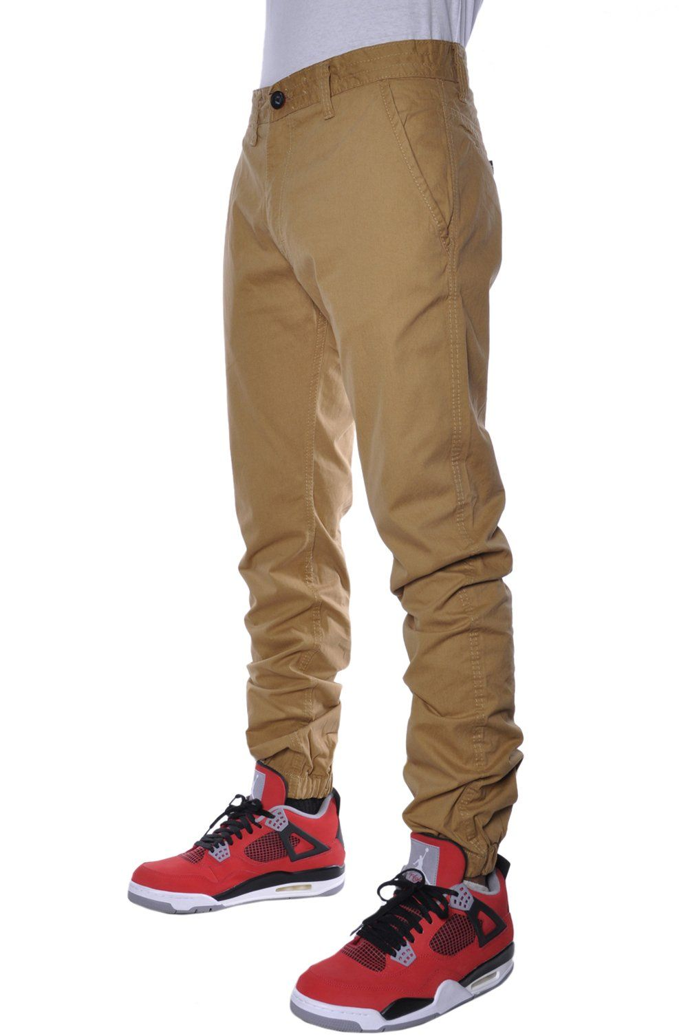 f8b0d7ff1e69c9 ... greece jordan craig casual mens basic elastic khaki jogger pants at amazon  mens clothing store 37bbe