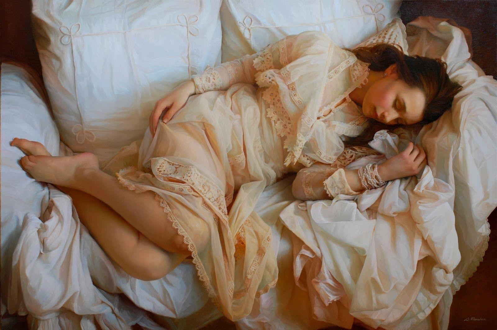 Разбудил женщина спала, необычная странная эротика
