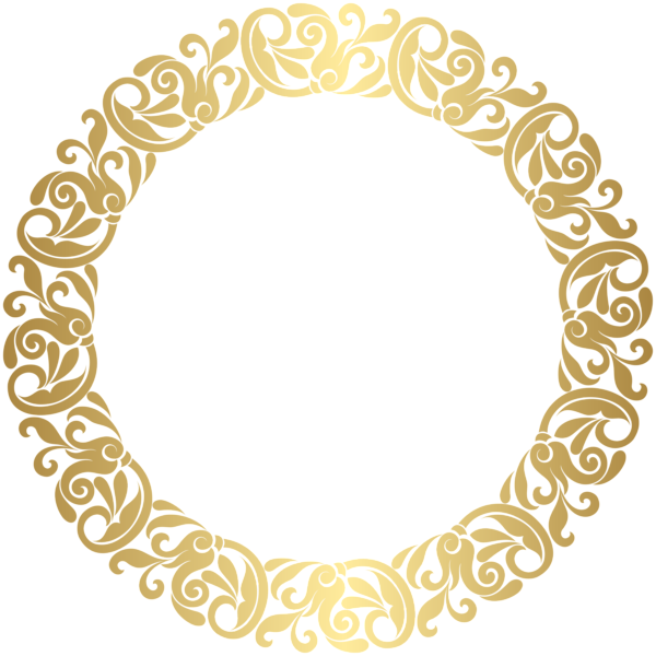 Gold round border frame png clip art pinterest round border gold round border frame png clip art thecheapjerseys Images