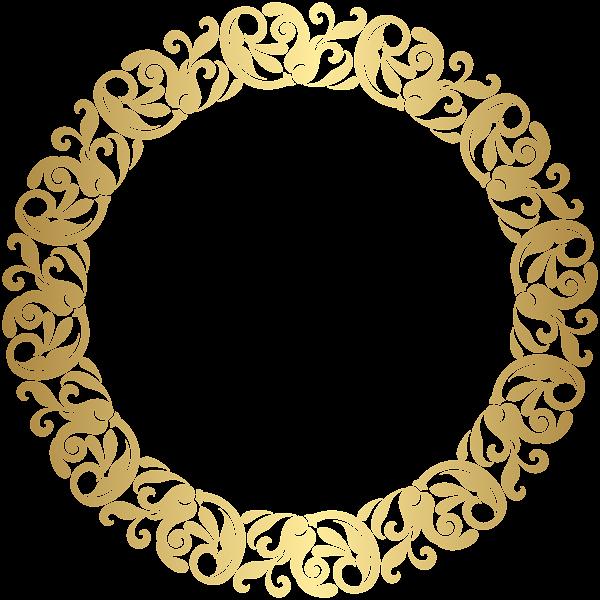 gold round border frame png clip art topper de boda