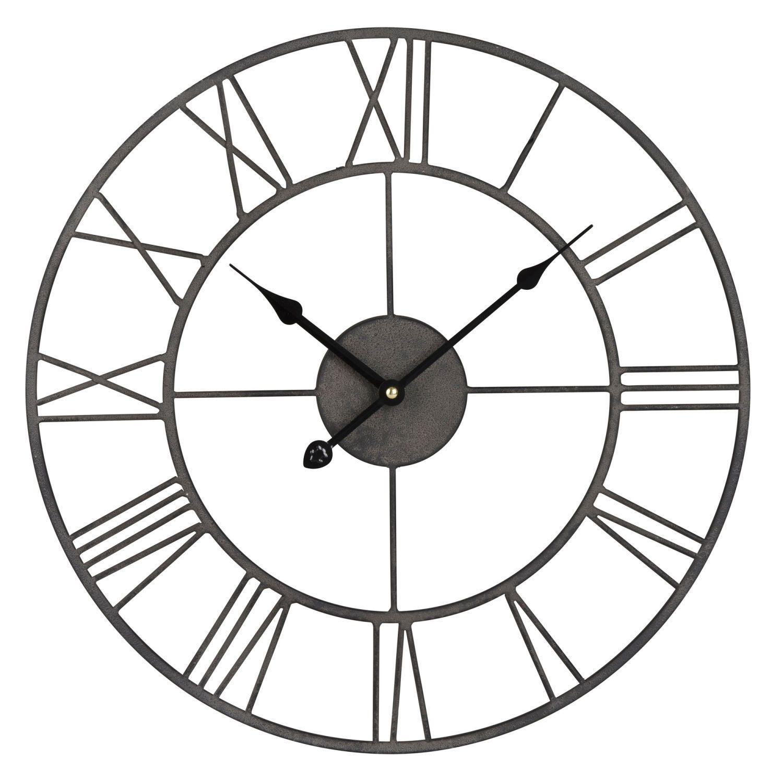 Uhr Aus Metall Schwarz D 45 En