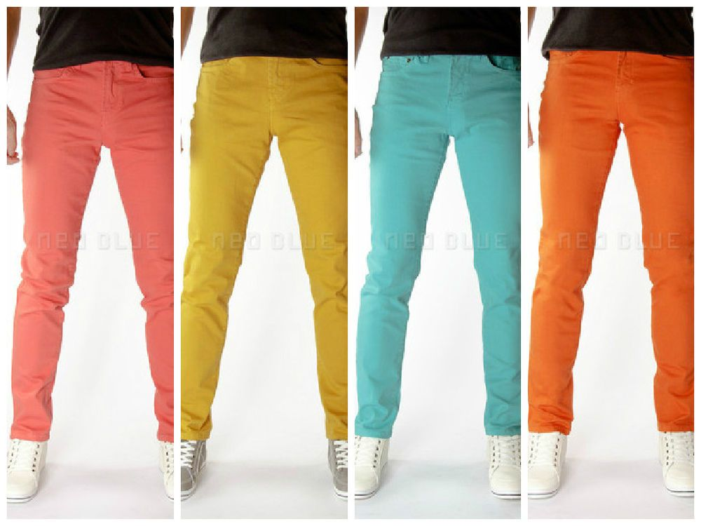 Details about Bright colored Super Skinny Jeans Made USA 98 ...