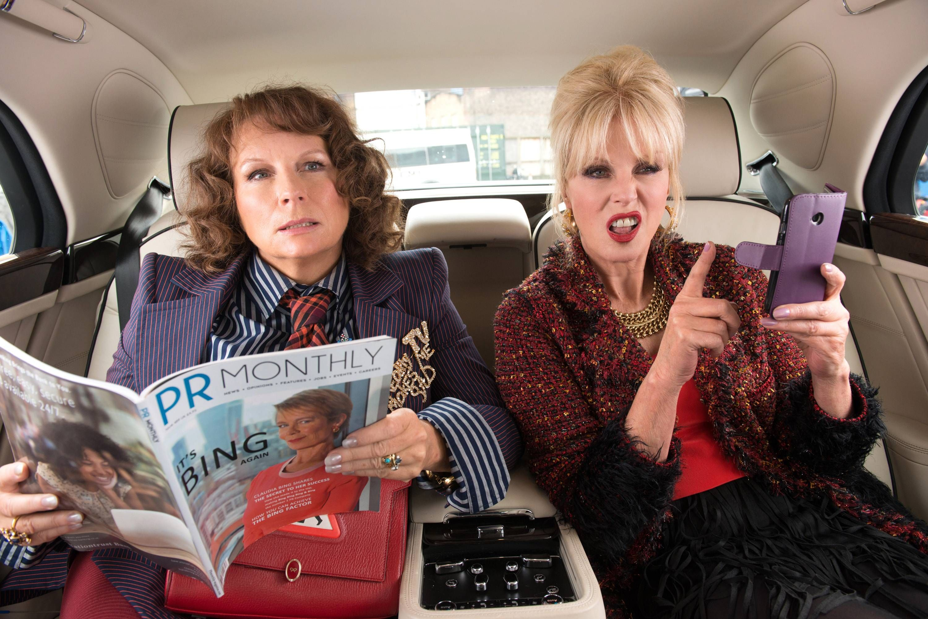 Patsy Eddie And Friend Kate Moss Hit Big Screen For Ab Fab