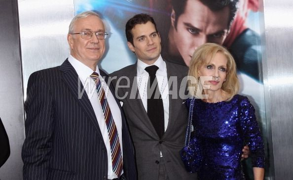Actor Henry Cavill with father...