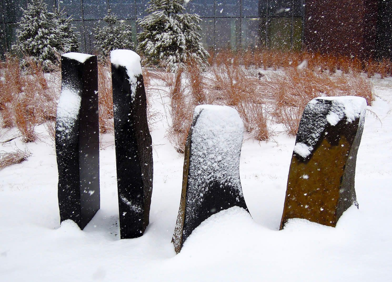 Philip Rickey's public art installation at University of Minnesota