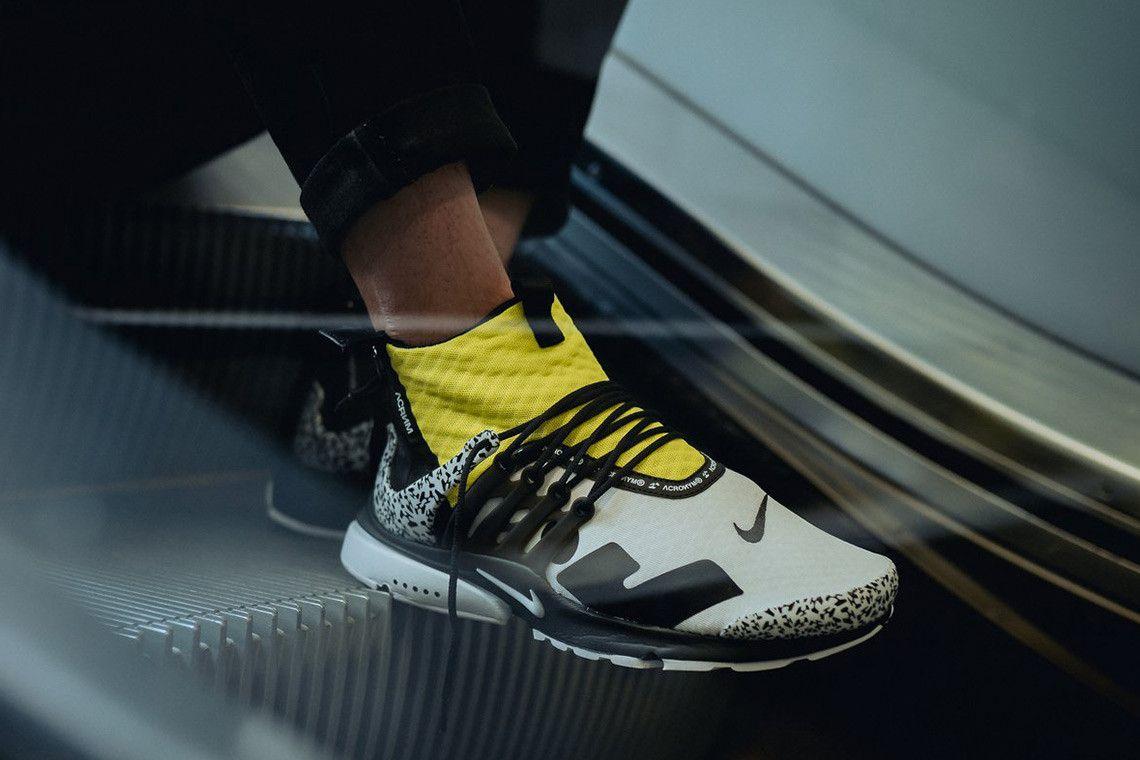 buy online db570 15baa Nike Air Presto Mid x ACRONYM® 全新系列實物上腳