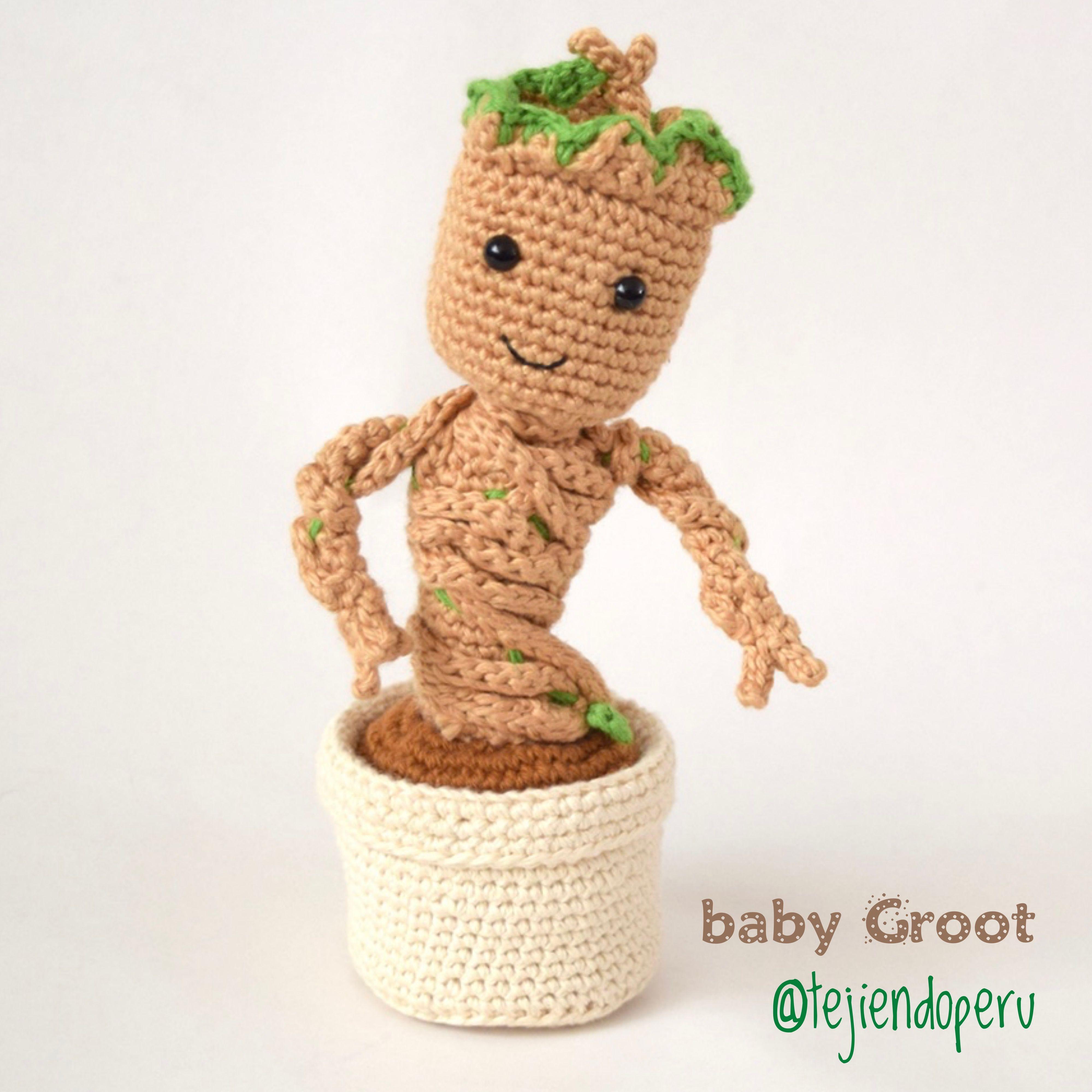 Baby Groot amigurumi paso a paso 😍 #crochet #amigurumi #Babygroot ...