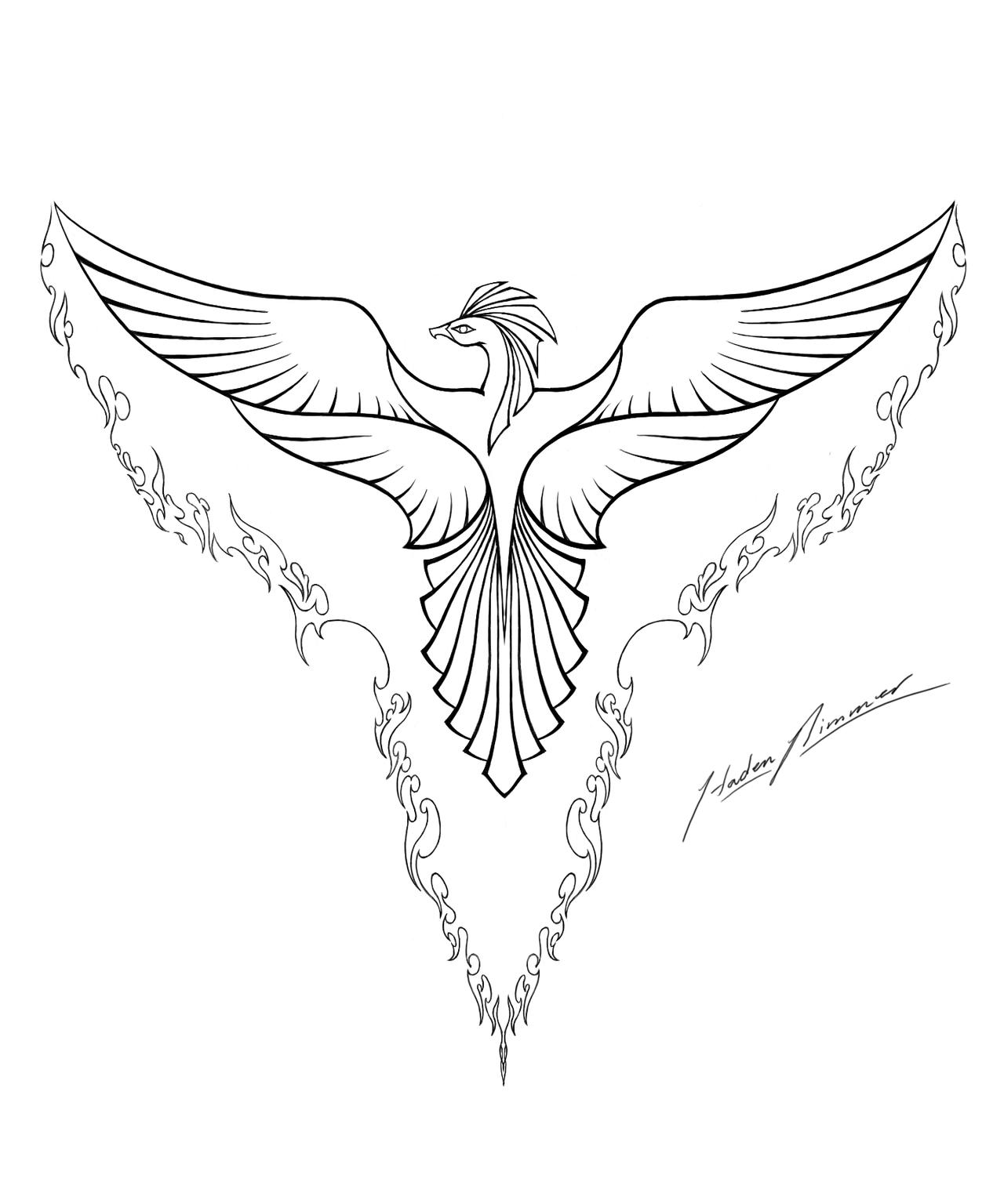 Phoenix Sketch February 28 2011 Colouring Line Art Phoenix Tattoo Phoenix Tattoo Design Phoenix Bird Tattoos