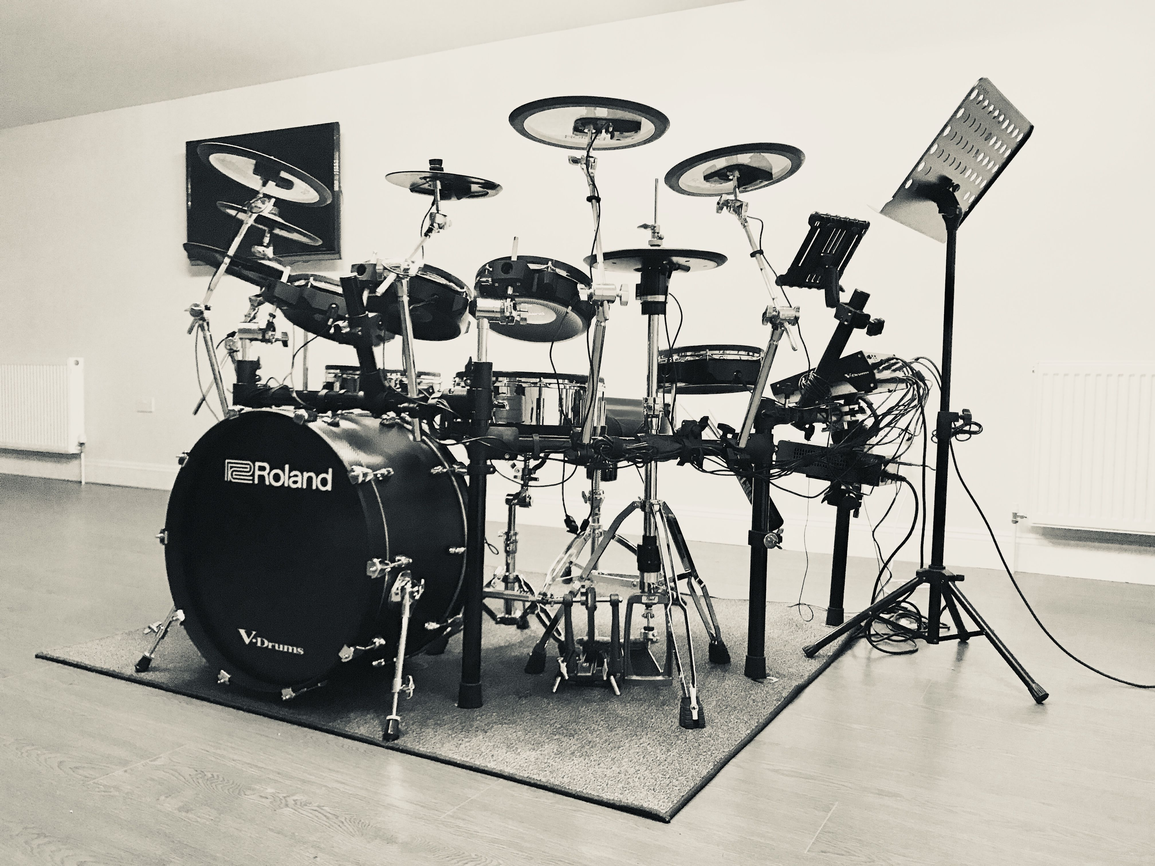 Roland Td50k With Custom 22 Bass Drum With Kd A22 Drums Drum