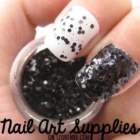 Jet Black - Black Textured Raw Nail Glitter Mix 3.5 Grams $2.99 #fashion #nails #glitter #beauty
