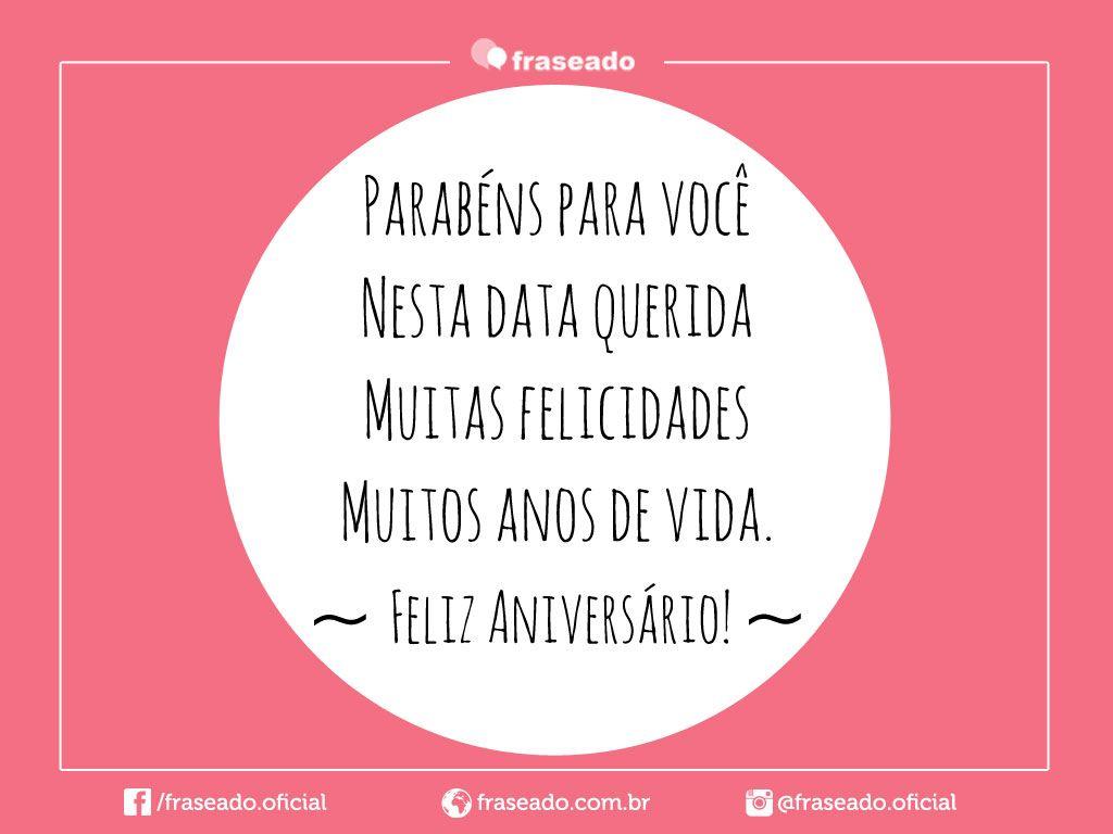 Parabéns A Você Pessoa Querida: Muitas Felicidades, Muitos Anos De Vida