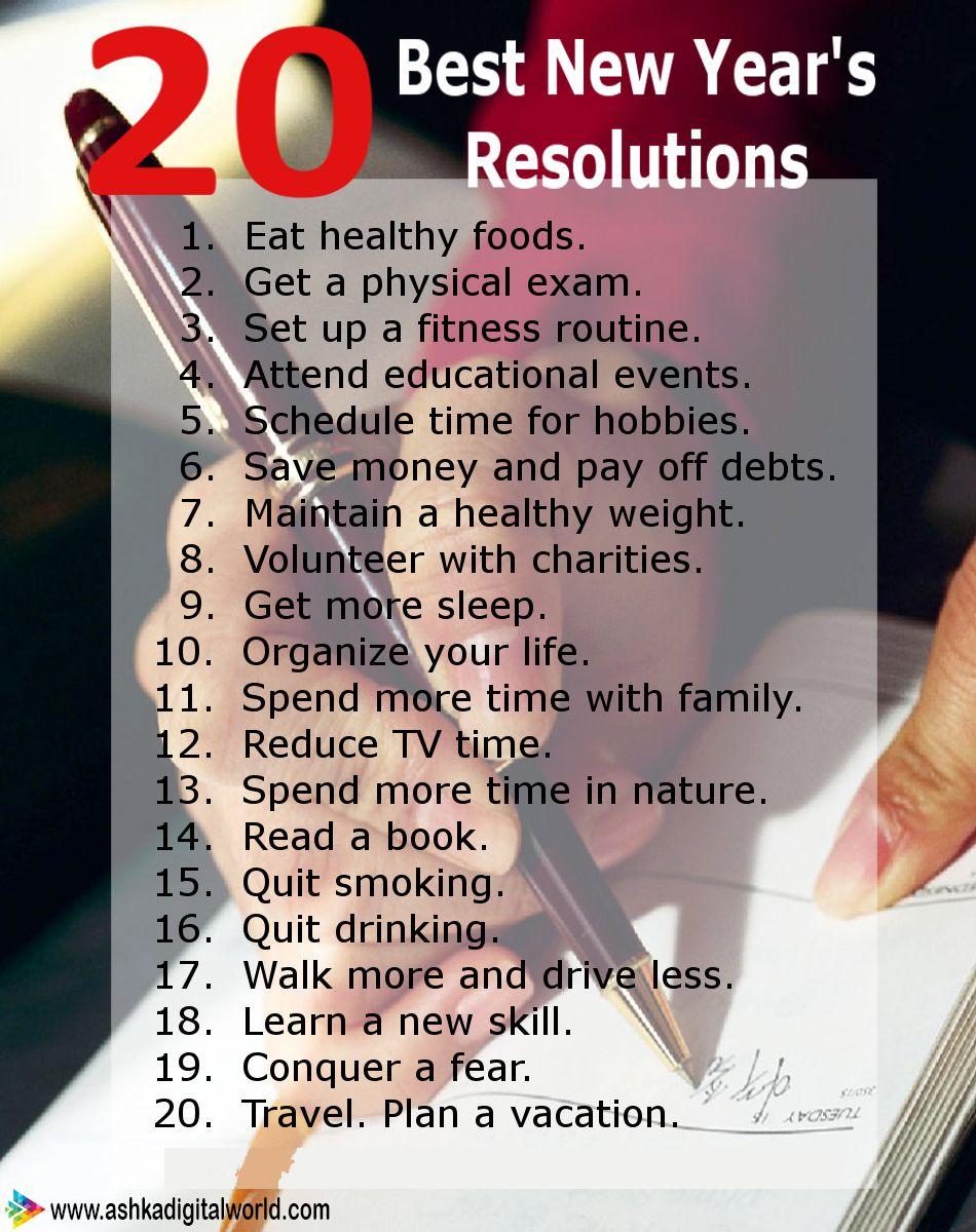 20 Best New Year Resolutions AshkaDigitalWorld NewYear