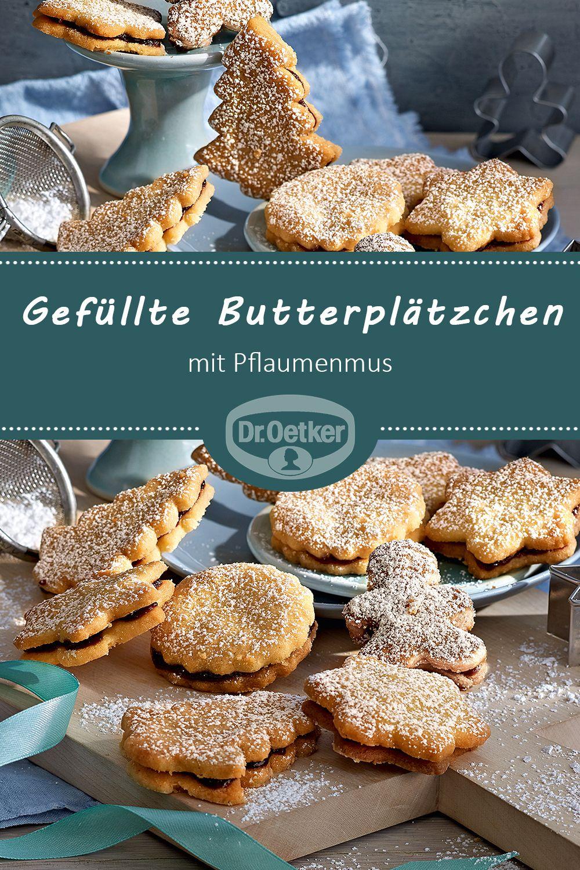 Gefüllte Butterplätzchen mit Pflaumenmus | Rezept in 2018 ...