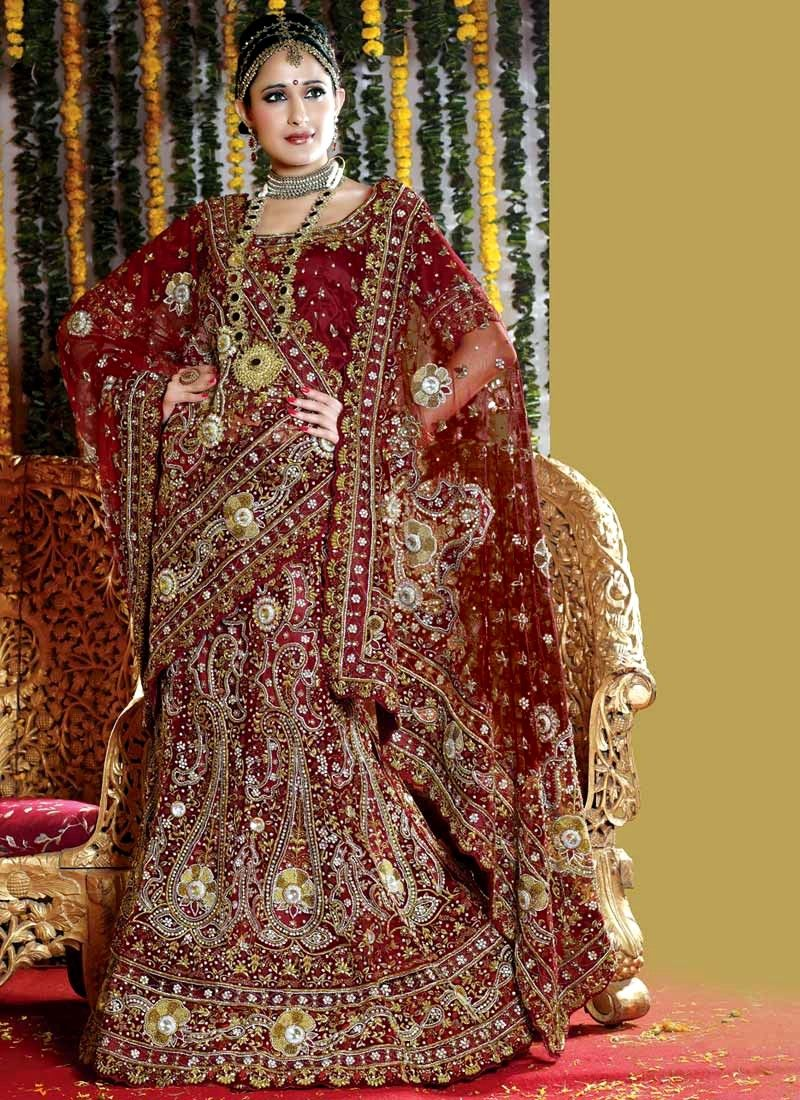 Bollywood bridal dress wedding wear bridal lehenga for Indian bridal wedding dresses
