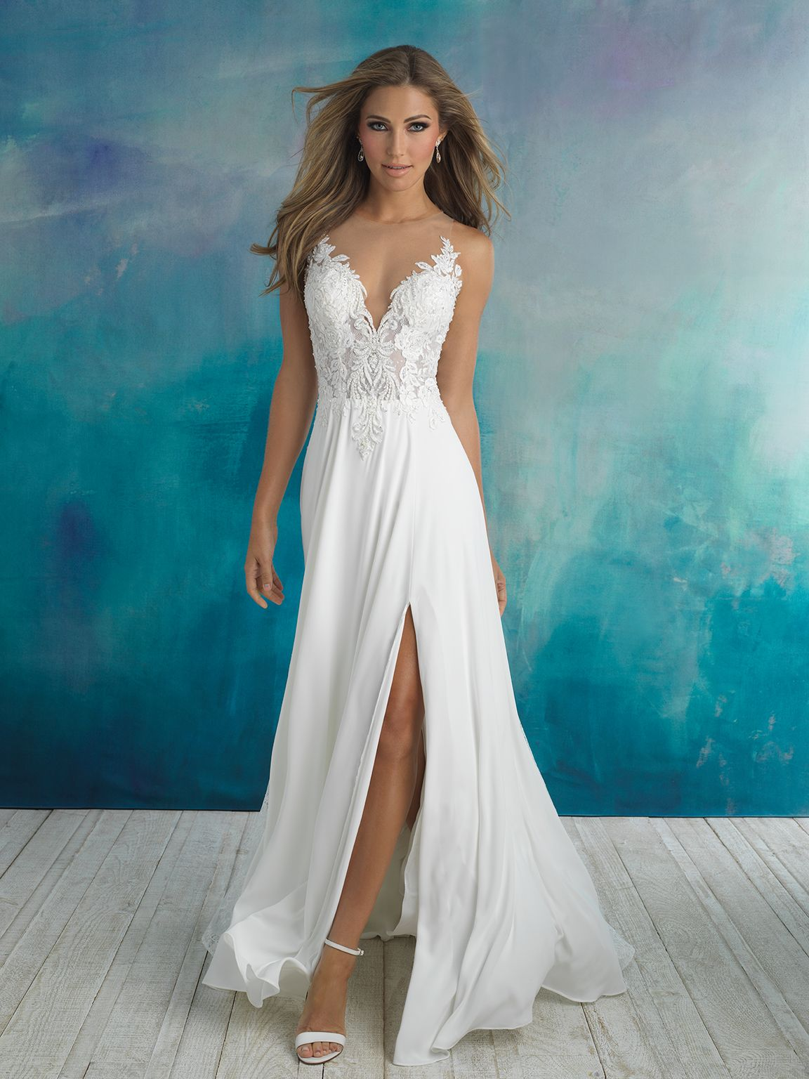 Allure Bridals 9510 Ivory/Nude Size 10   Webster-Bridal Gowns ...