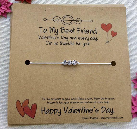best friend valentine wish bracelet valentines card friend