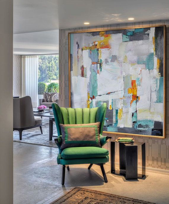 Tendencia de marcos para obras abstractas, colores metálicos, líneas ...